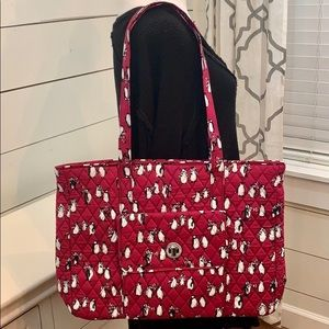🐧Vera Bradley Turnlock Tote - Playful Penguins🐧